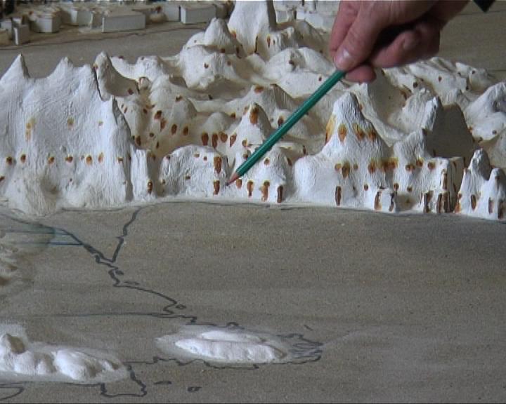 Maquette des reliefs